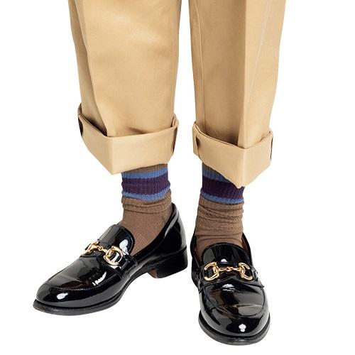 靴下のおしゃれ 流行のラインソックス