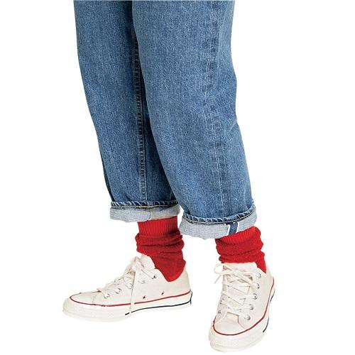 靴下のおしゃれ 差し色カラー