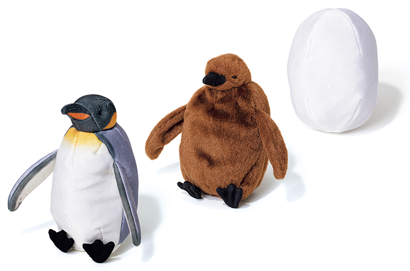 フェリシモ ユーモアのオウサマペンギン3変化ぬいぐるみ