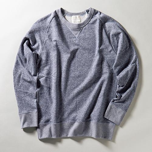 KUME.JP 久米繊維のサスティナブル+ライン ラグラン スウェットシャツ
