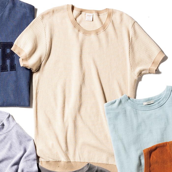 ジチピのリブクルーネックTシャツ