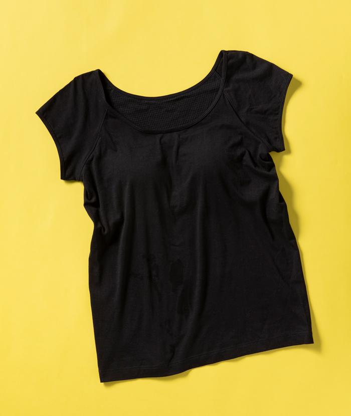 無印良品のカップ入りフレンチスリーブTシャツ