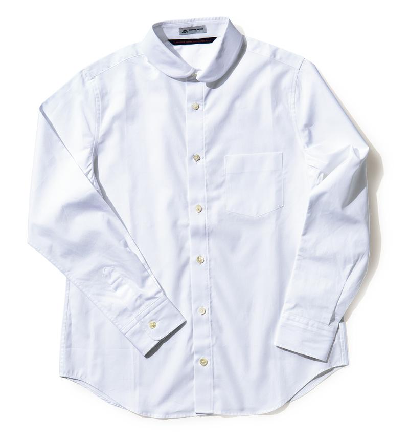 グランマ ママ ドーターのラウンドカラーシャツ