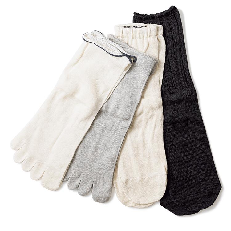 絹屋の4足重ね履き冷えとり靴下
