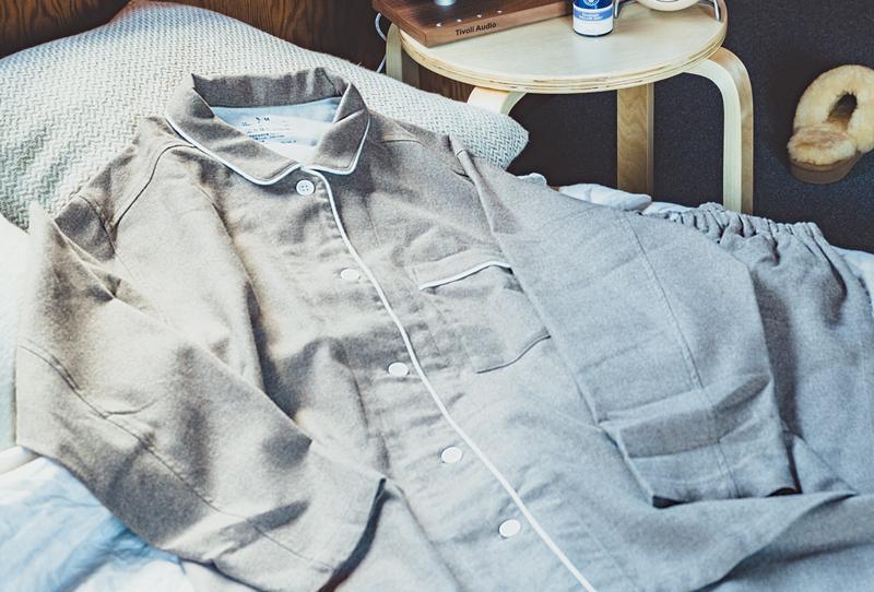 無印良品のフランネルパジャマ