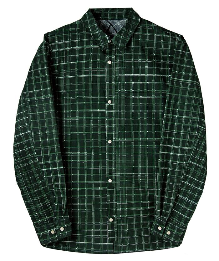 フリーアームシャツ01 プラッド