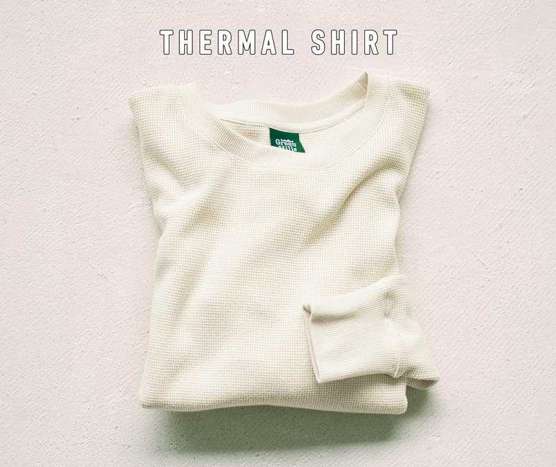 グリーンヒルズのサーマルシャツ